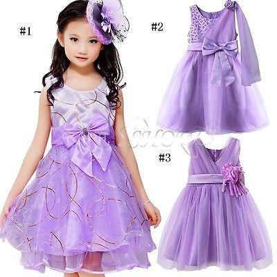 02413dc61ac78 VIOLET Enfant Fille Princesse Robe Tenue de soirée MARIAGE CEREMONIE  BAPTEME in Vêtements