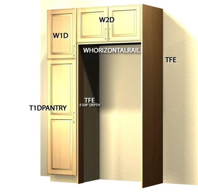 Standard Refrigerator Enclosure Tutorial Refrigerator Cabinet Kitchen Cabinets Makeover Pantry Cabinet