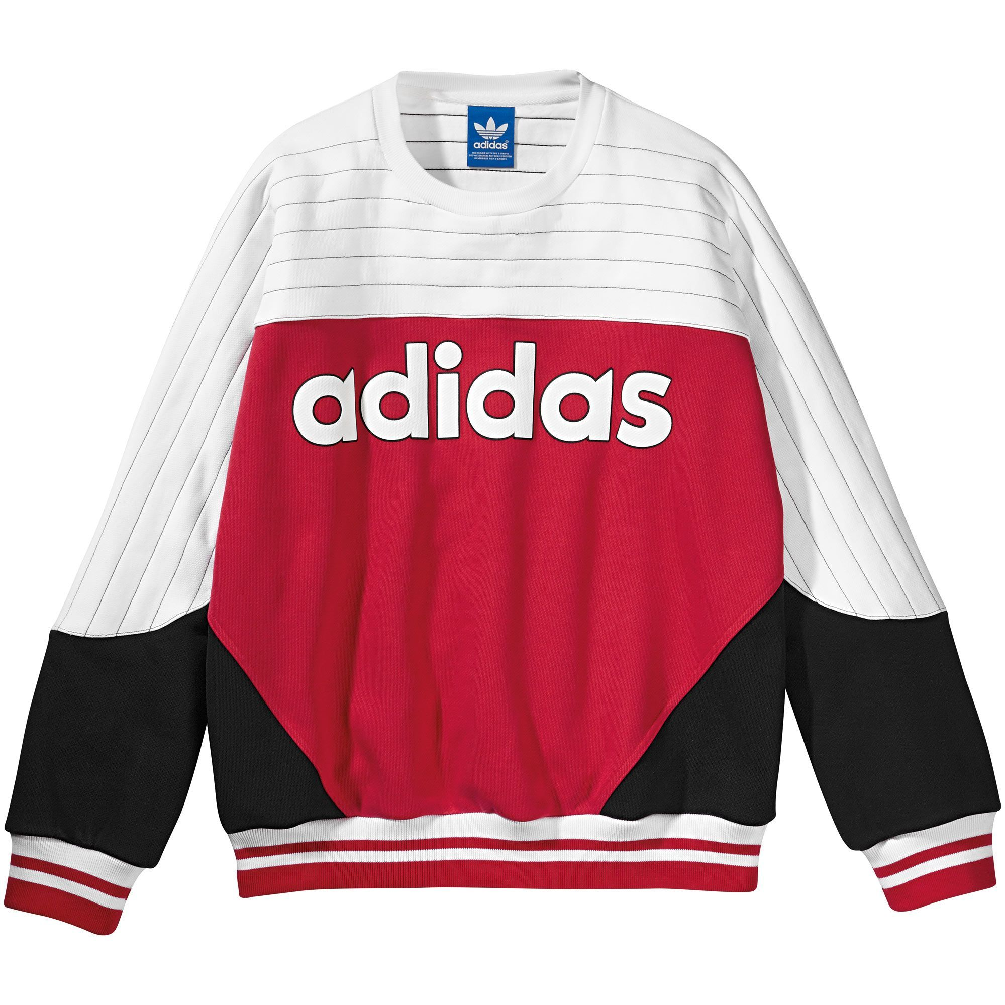 Adidas 25 Blocked Crew Sweatshirt Adidas Us Mens Sweatshirts Sweatshirts Adidas Sweatshirt [ 2000 x 2000 Pixel ]
