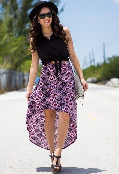 patterned mullet skirt  Mullet Skirts #2dayslook #MulletSkirts #susan257892 #anoukblokker  www.2dayslook.com