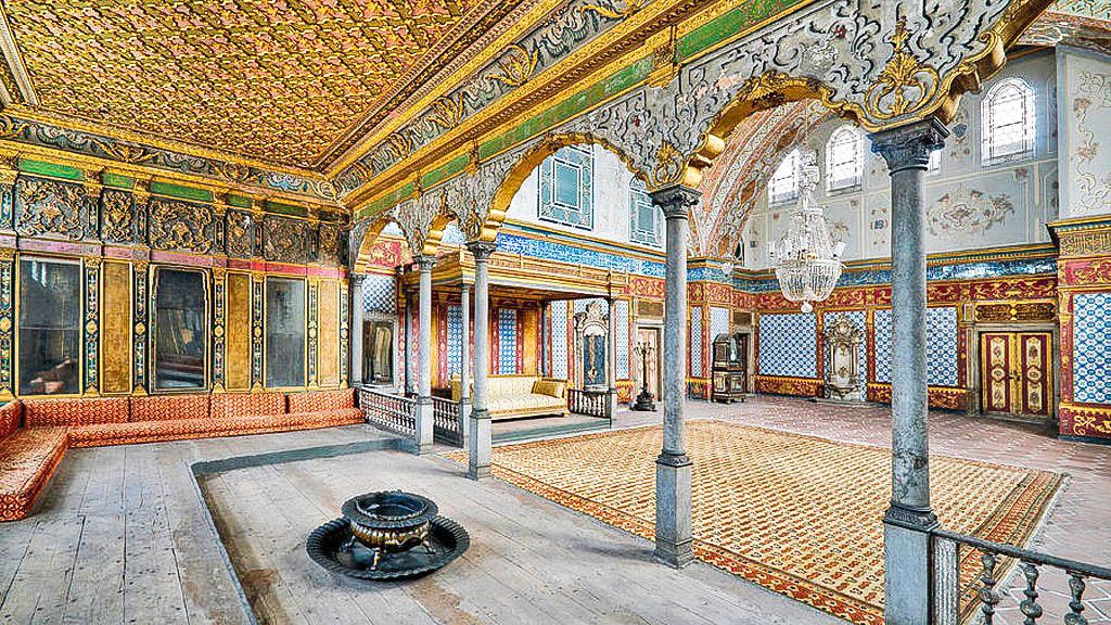 Inside the Topkapi Palace of Istanbul, Turkey
