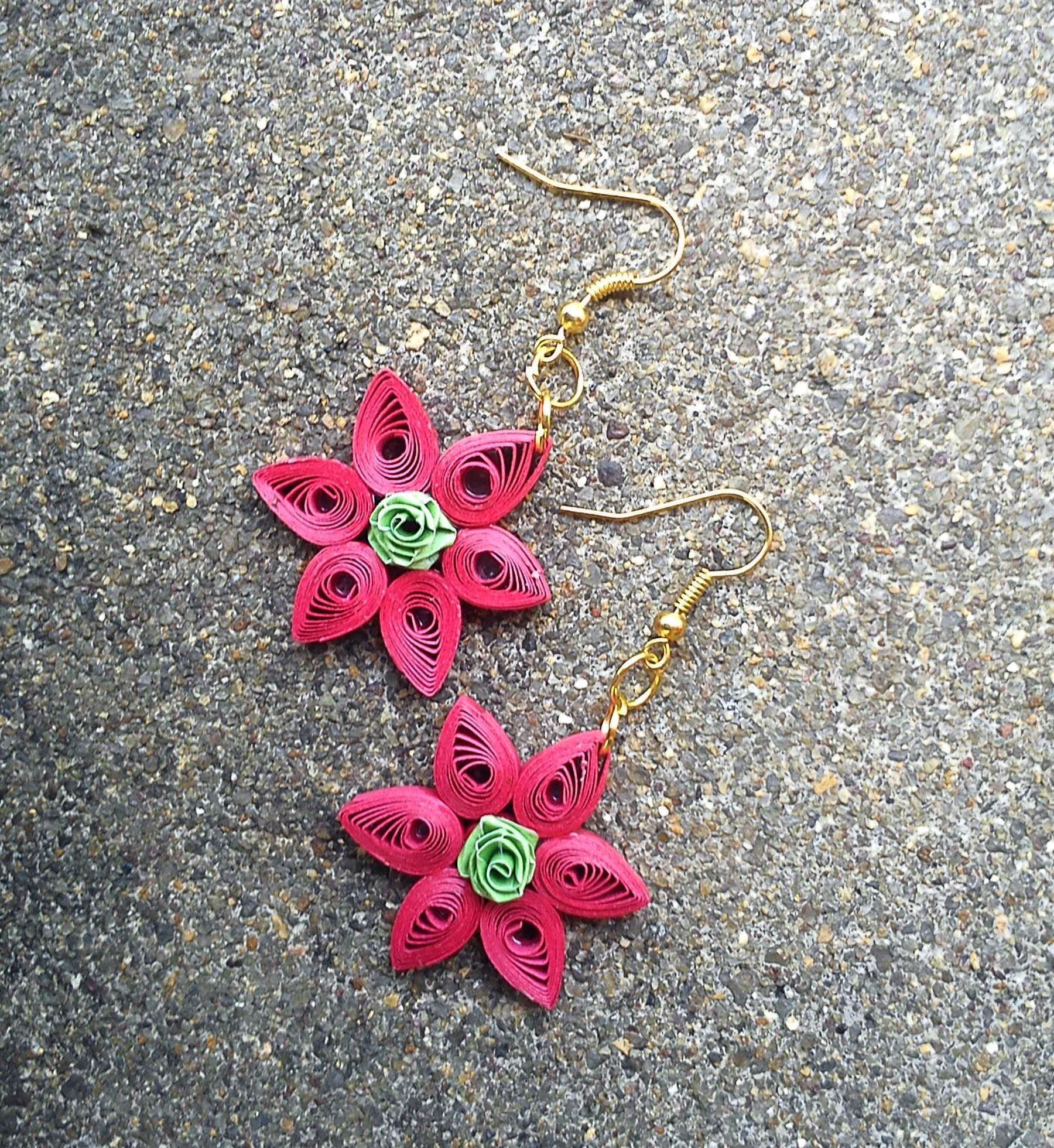 Quilled Flower Earring