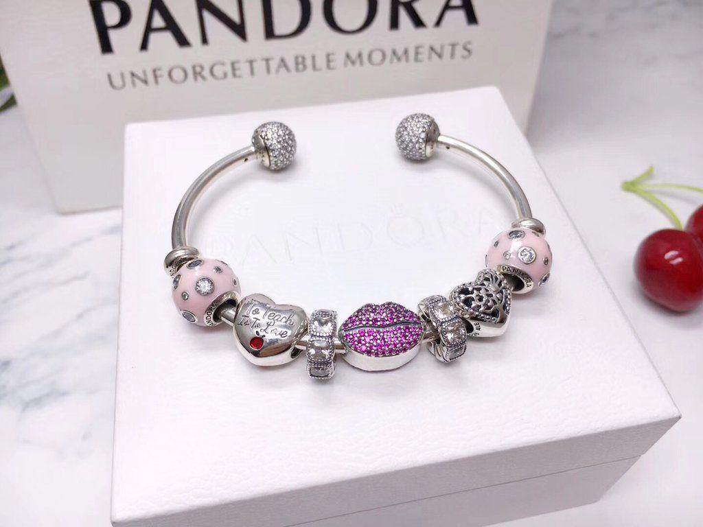 Pandora love kiss charm bracelet pcs charm in best pandora