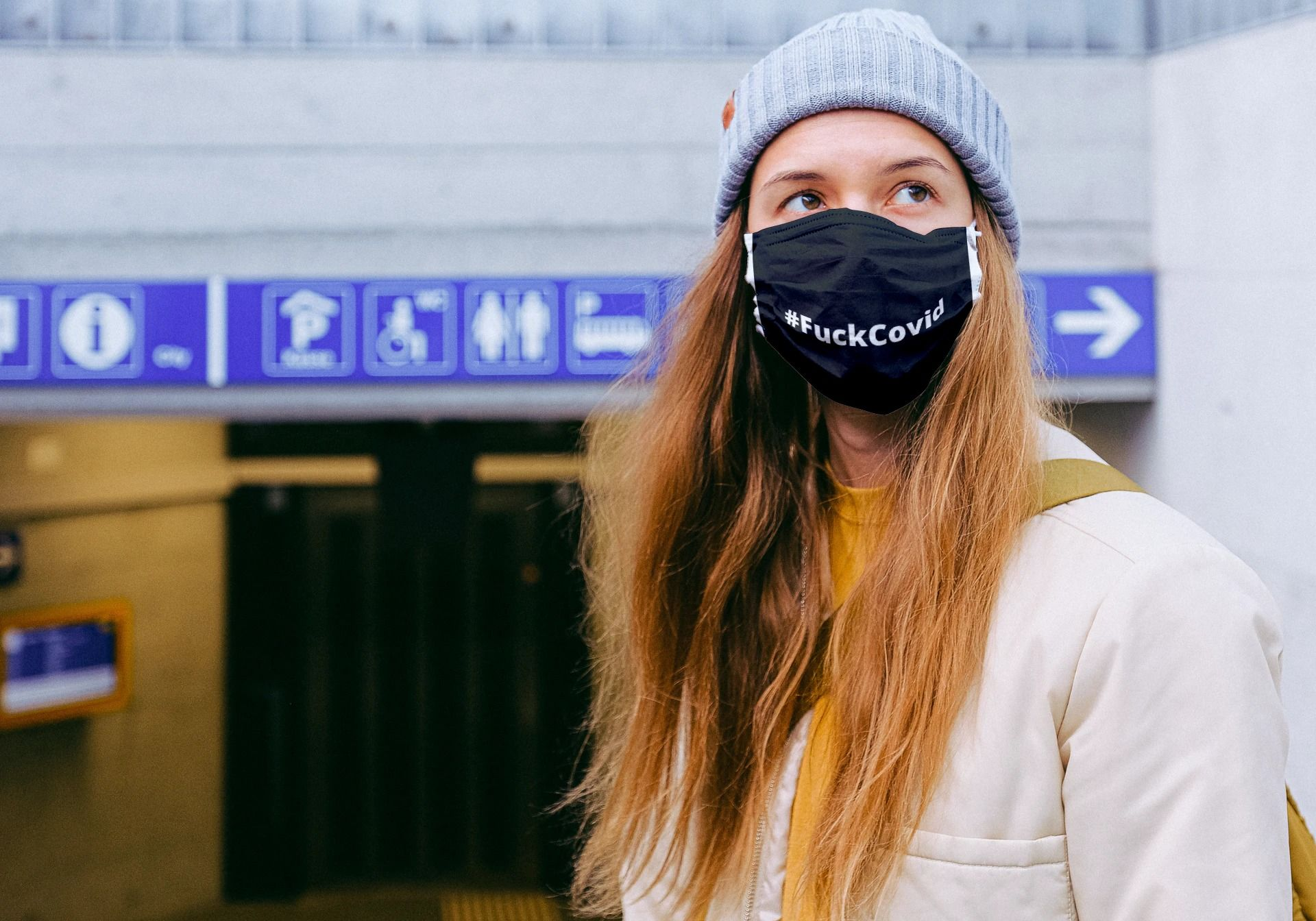 FuckCovid Face Mask in 2020 Mask, Face mask, Trending