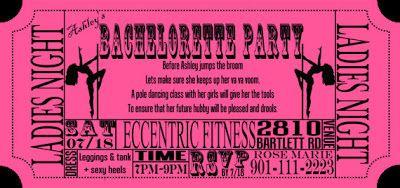 pole dance party invitations nashville bachelorette party