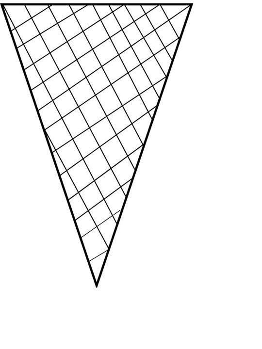 Ice cream cone pattern 3/3 | Back to school | Pinterest