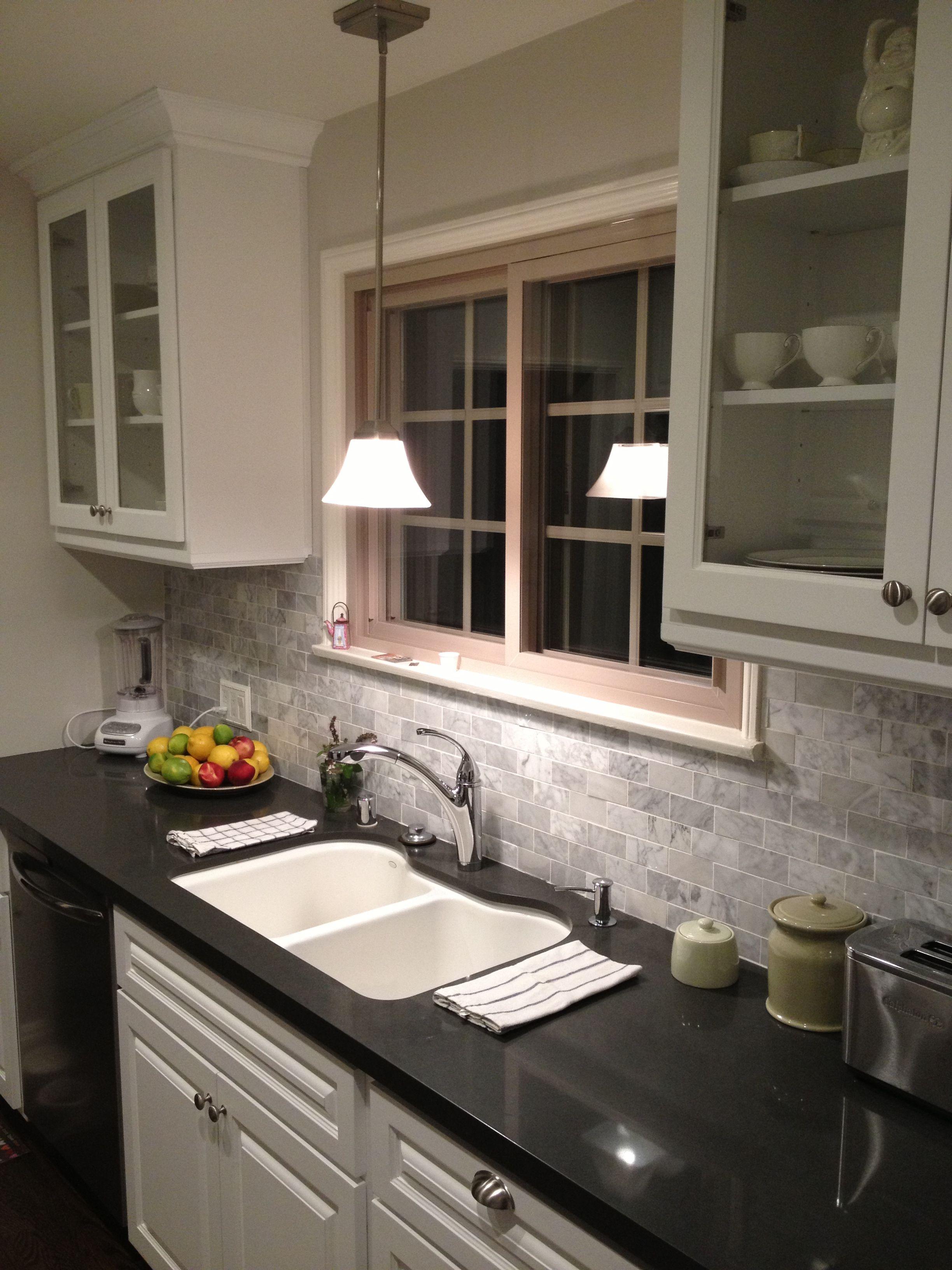 countertop colour grey countertops quartz countertop ish backsplash ...