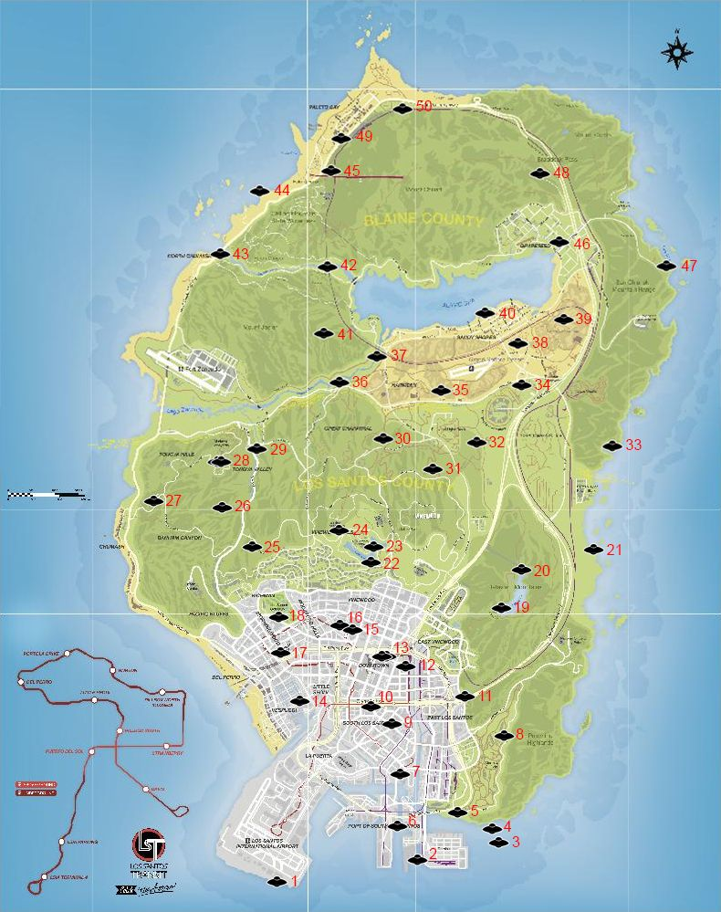 Map grand theft auto v - Gta V Collecting 50 Spaceship Parts