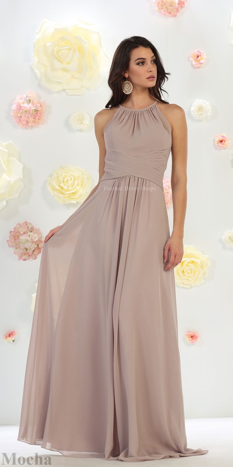 Cool great prom long evening maid of honor gown formal simple