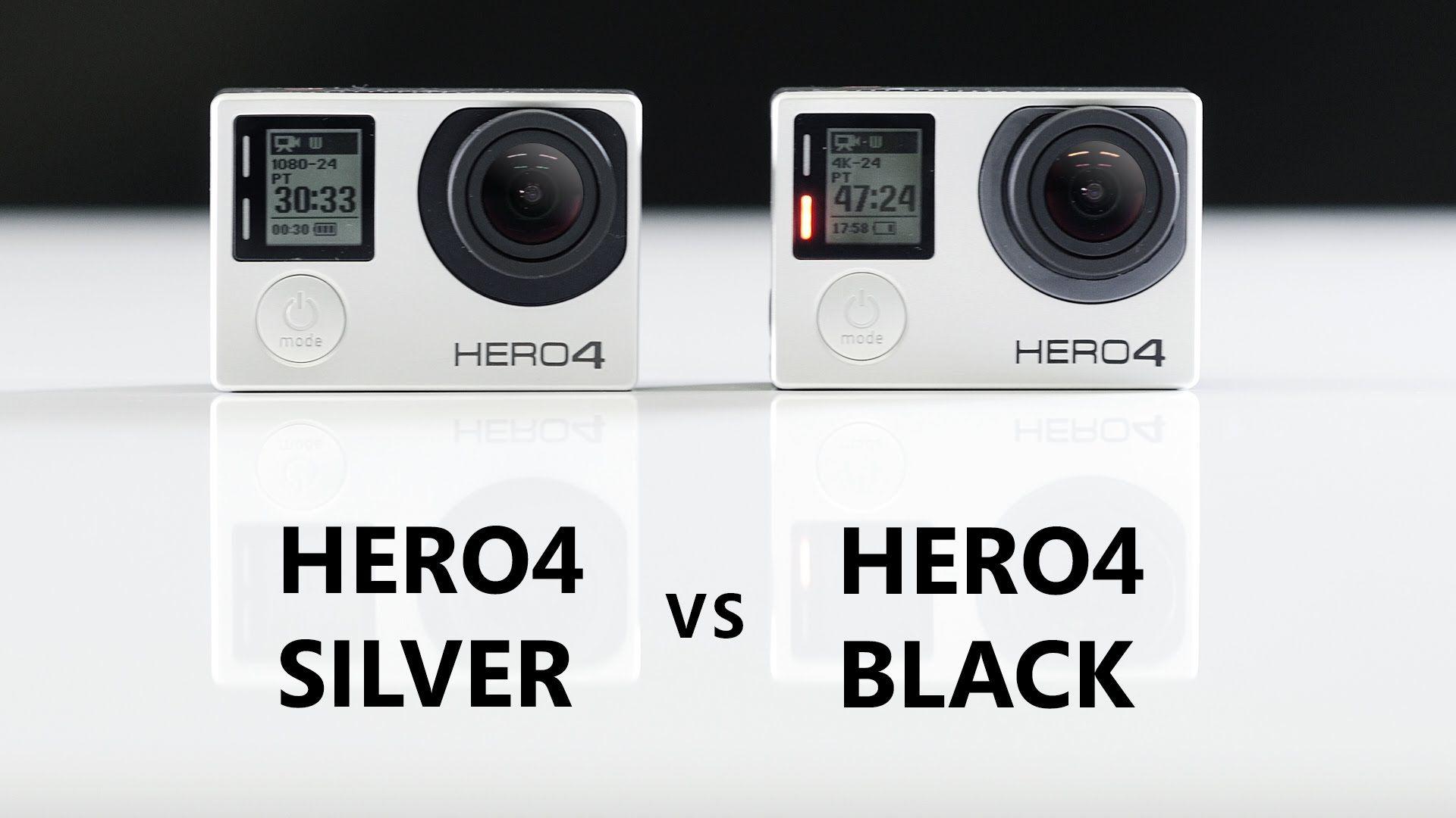 Gopro Hero4 Silver Vs Hero4 Black Comparison And Review Gopro Gopro Hero 4 Black Drone Business