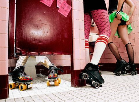 Roller Derby Girls Are The Punks Of The High School Bathroom Grown Up Well In My Case They Are Roller Derby Girls Roller Derby Derby Girl