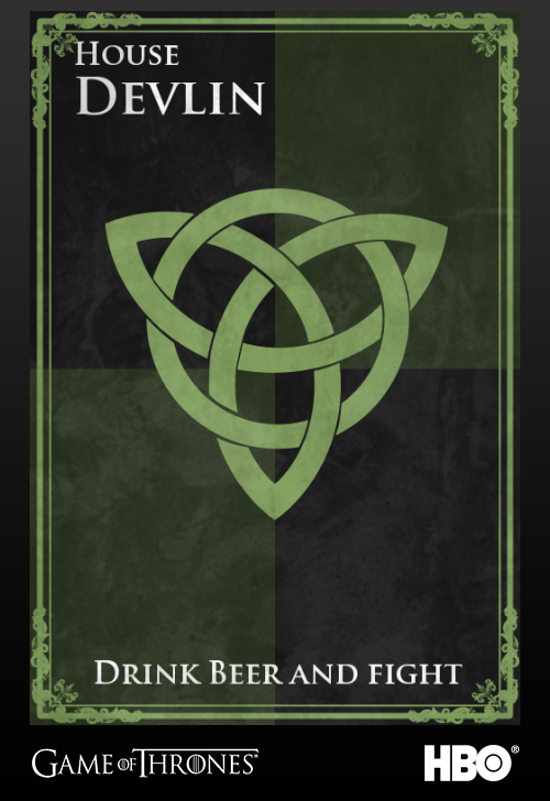 I just created my family arms for HBOs Game of Thrones