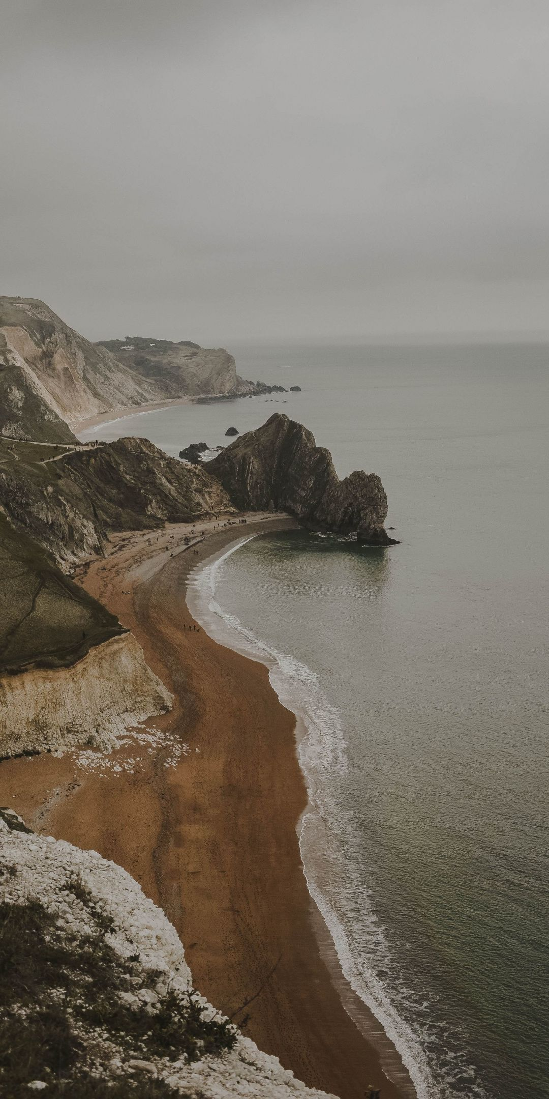 Durdle Door, aerial view, coast, sea, nature, 1080x2160 wallpaper
