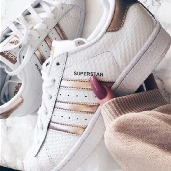buy popular b3bcc 6c854 ... blanco d1561 d0d5b  official adidas rose gold superstar 100 authentic  brand new in box sizes 6 649c7 51eac