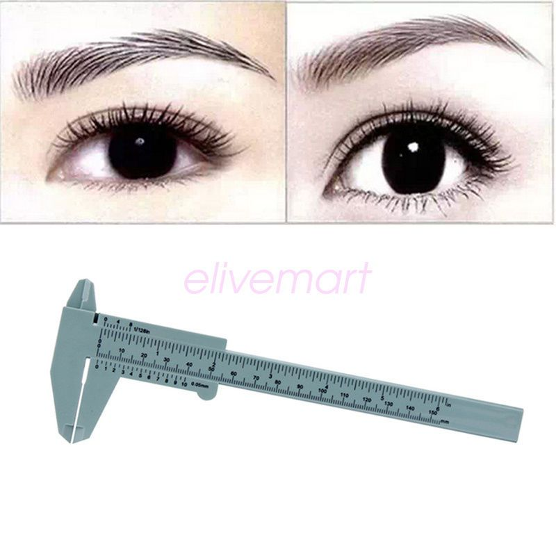 Details about Womens Reusable Microblading Makeup Measure Eyebrow Guide Ruler Permanent Tools