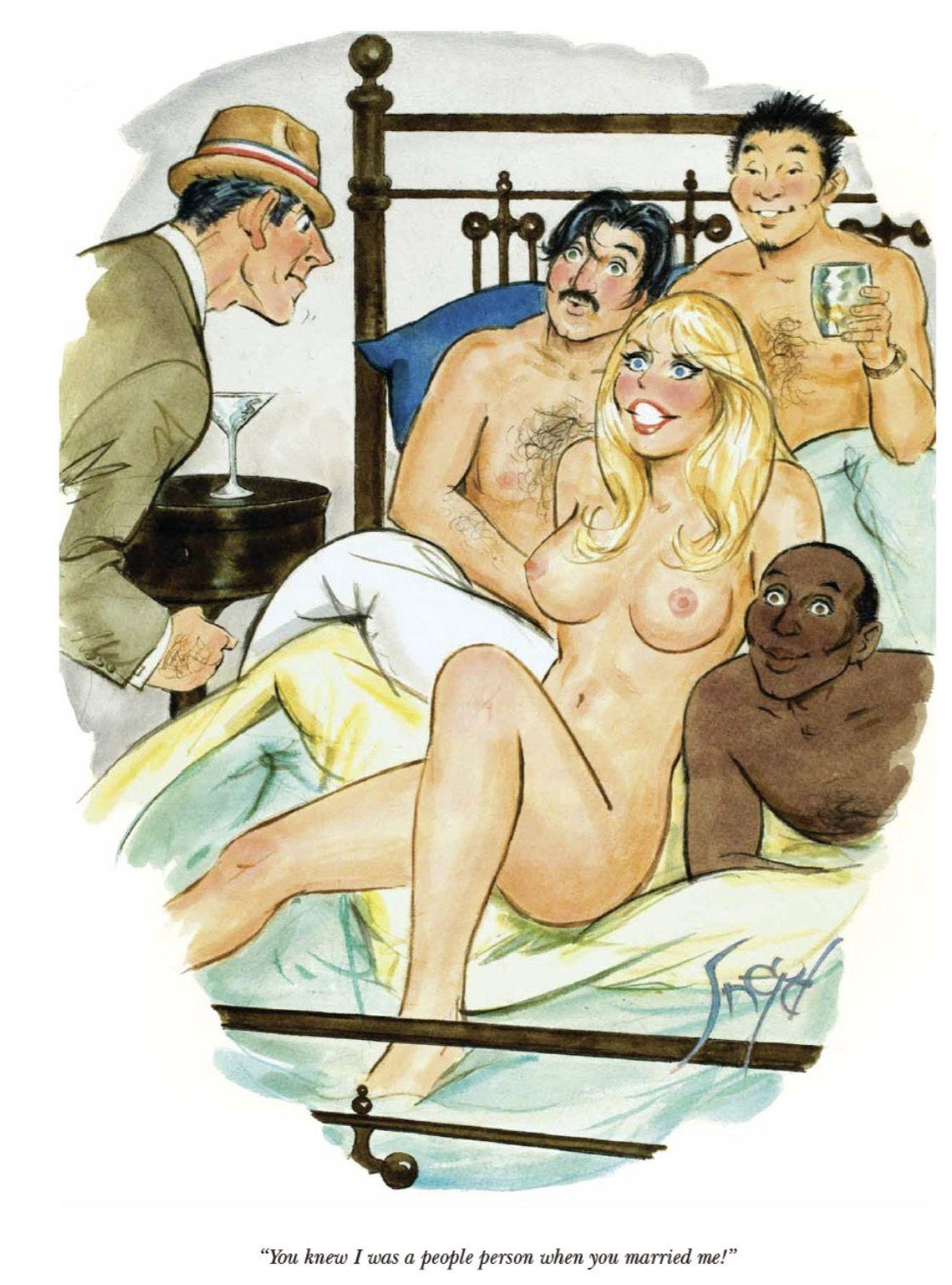 Modeling nude woman
