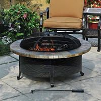 Heirloom Slate Fire Pit With Cover Fire Pit Fire Pit Patio