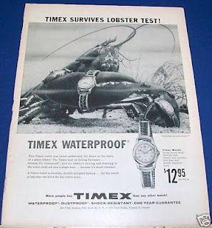 Anúncio Timex 1950