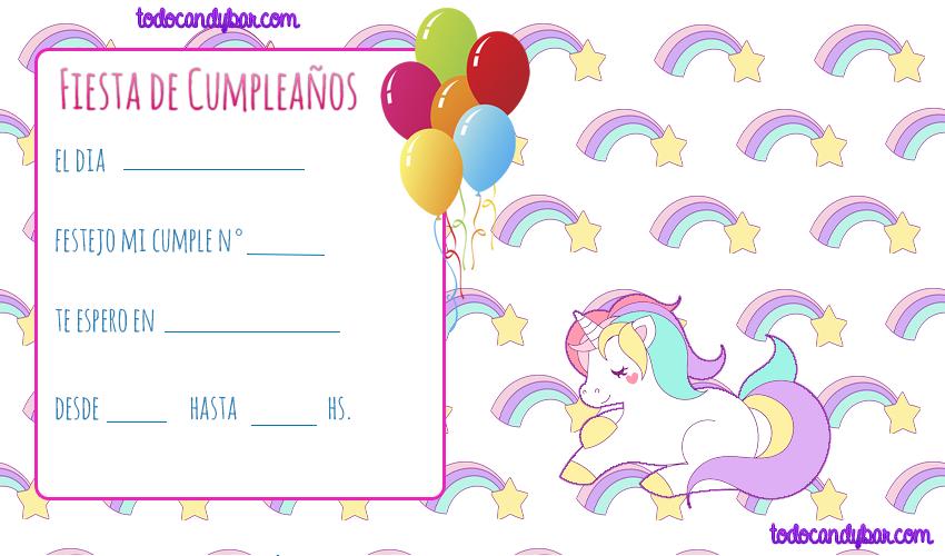 Pin About Invitaciones Unicornio Y Tarjetas De Cumpleaños