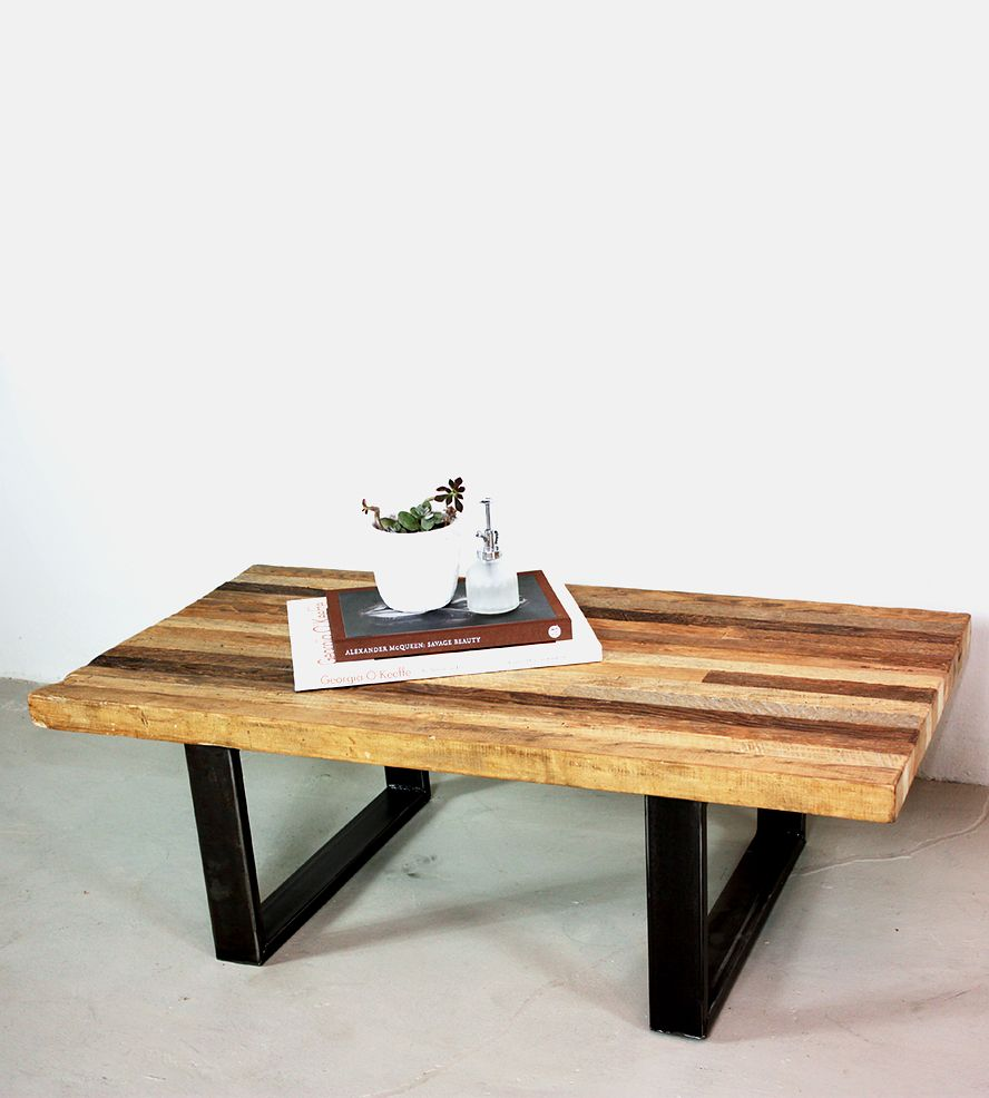 Reclaimed Wood Patchwork Coffee Table