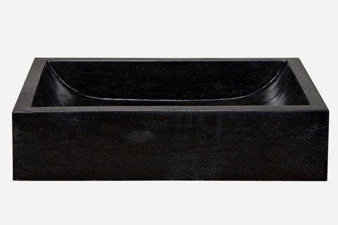 Rectangular Marble Vessel Sink  Black by Rocksinks on Etsy