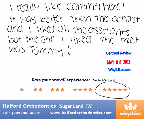 I Really Like Coming Here! - Halford Orthodontics