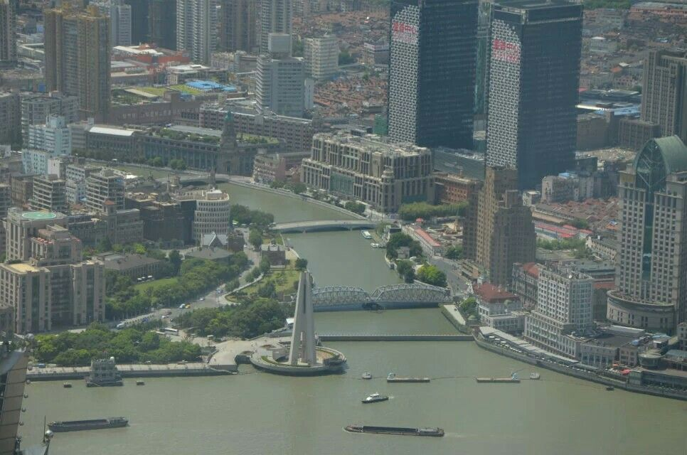 Suzhou River seen from Shanghai World Financial Center