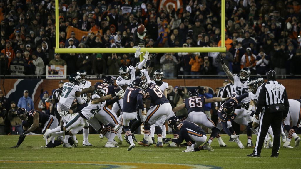 Wait Was Cody Parkey S Missed Fg Actually Tipped By An Eagles Player Nfl Football Philadelphia Eagles Nfl