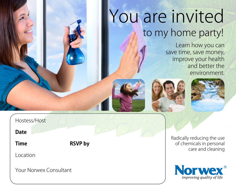Invitations For Learning More About Norwex Microfiber And Personal Care Products