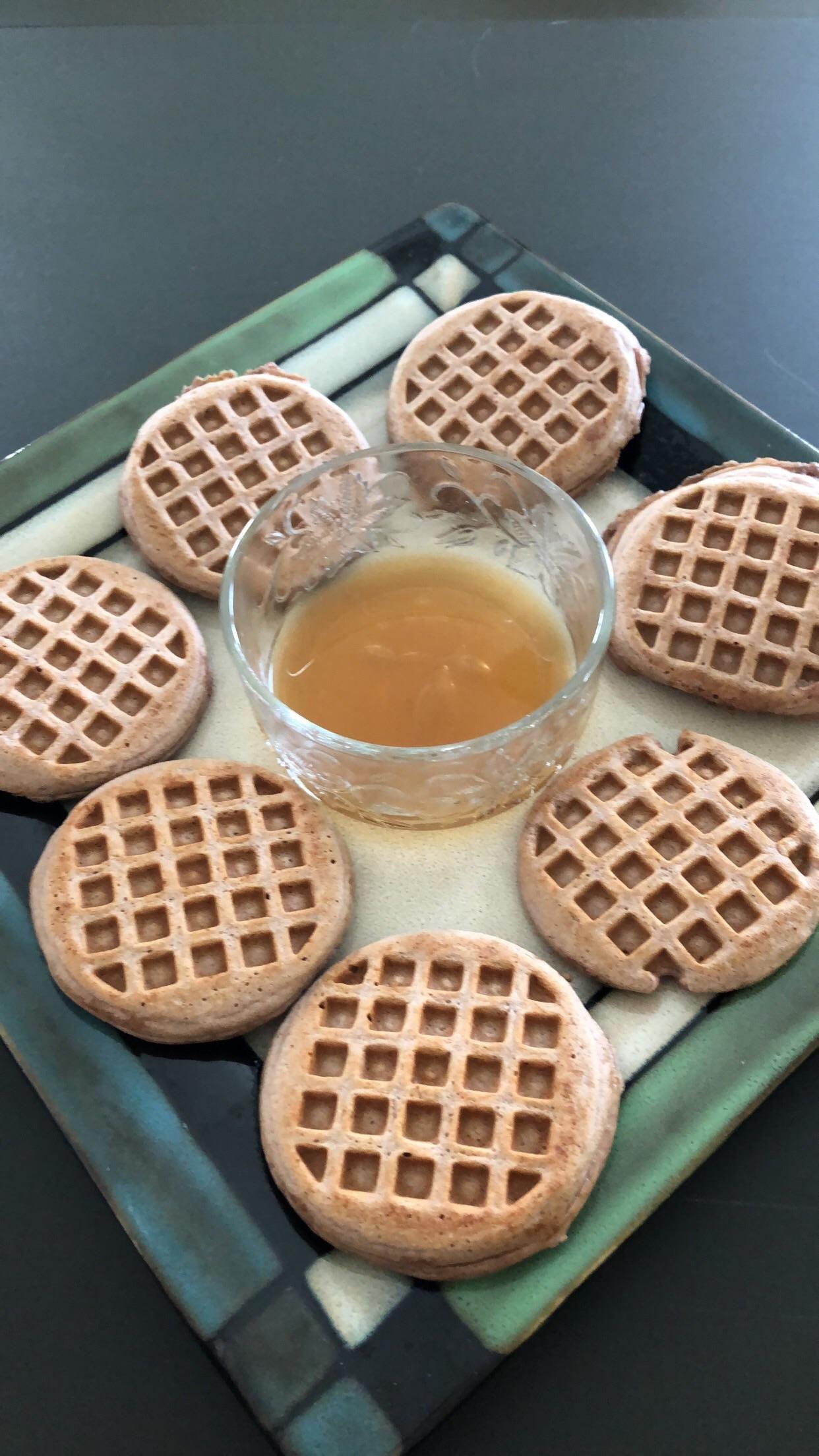 Kodiak Cake & Protein mini Waffles for Saturday morning brunch 310 calories