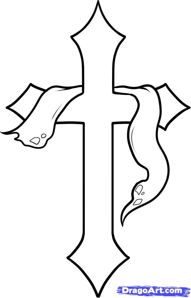 How To Draw A Cross Cross By Dawn With Images Cross Drawing