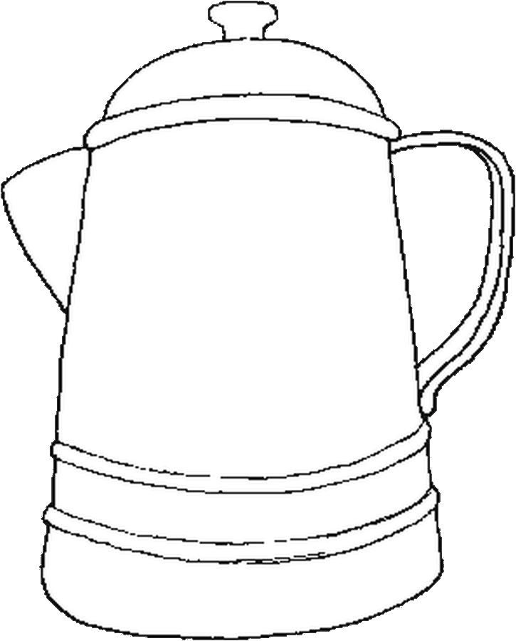 Old Coffee Pot Coloring Pages Quilt Ideas Pinterest Coloring