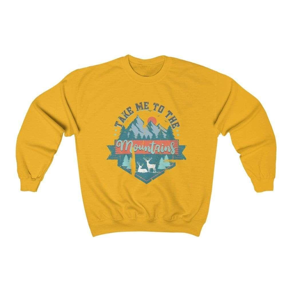 Take Me To The Mountains Graphic Sweatshirt In 2021 Sweatshirts California Sweatshirt Crew Neck Sweatshirt [ 1024 x 1024 Pixel ]