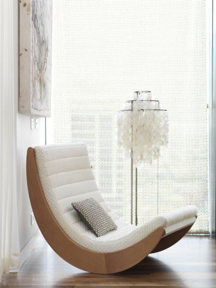 Modern White Rocking Chair White Floor Lamp Art Chris Court