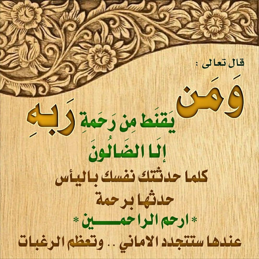 الآية ق ال و م ن ي ق ن ط م ن ر ح م ة ر ب ه إ ل ا الض ال ون ٥٦ الحجر Art Arabic Calligraphy Novelty Sign