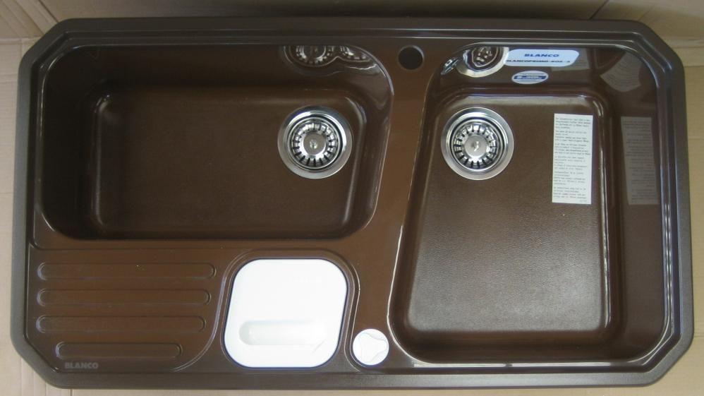 details zu blanco blancoprimo box 2 sp le mit abfallsystem 92x51 cm div farben hochwertige. Black Bedroom Furniture Sets. Home Design Ideas