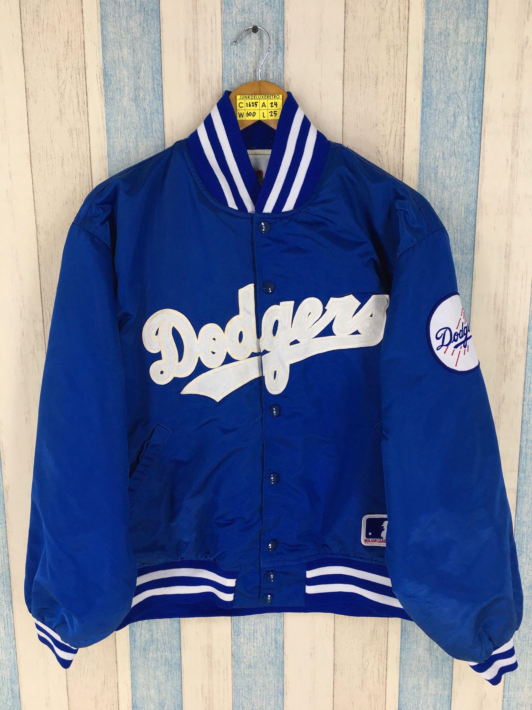Los Angeles Dodgers Varsity Jacket Men Large Blue Vintage 1990 S La Dodgers Mlb American Baseball Team Dodgers Bomber Dodgers Jacket Varsity Jacket Men Jackets