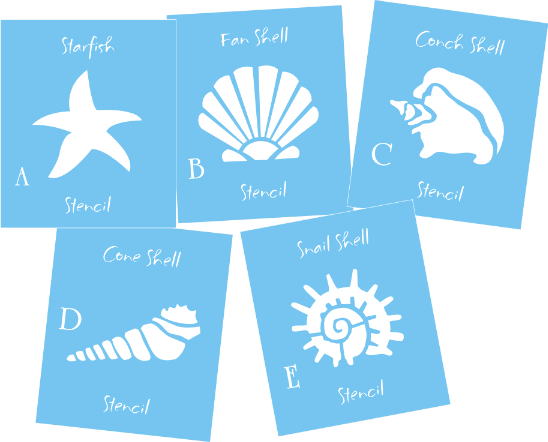 It's just a picture of Free Printable Seashell Stencils in template