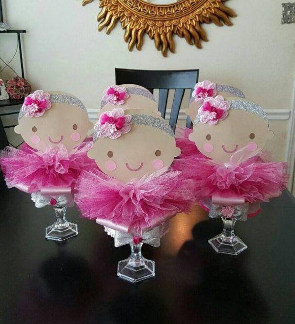 8 Best images about baby shower niña on Pinterest Mesas, Sweet bar - centros de mesa para baby shower
