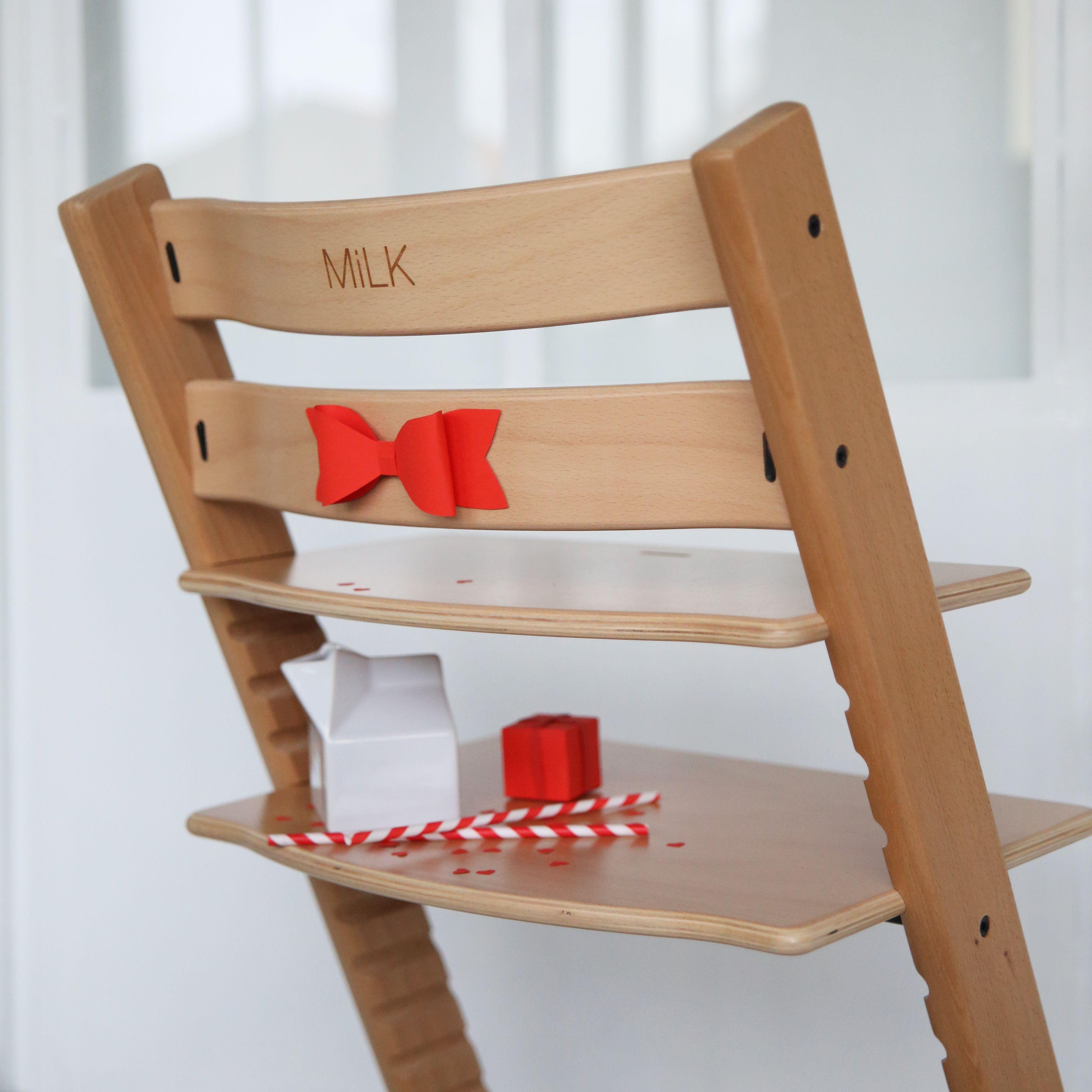 Chaise Tripp Trapp de Stokke personnalisée MilK. Photo (c) Jesus Sauvage pour : chaise stokke tripp trapp - Sectionals, Sofas & Couches