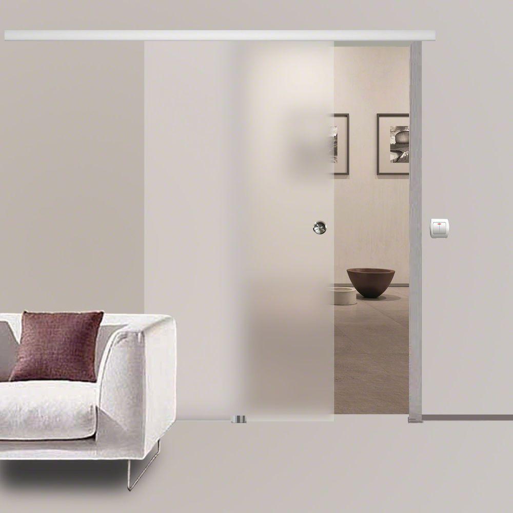Details Zu Soft Stop Slimline Glasschiebetur Glas Schiebetur Blickdicht 900x2050mm Bs 900d Schiebetur Glas Glasschiebetur Schiebetur