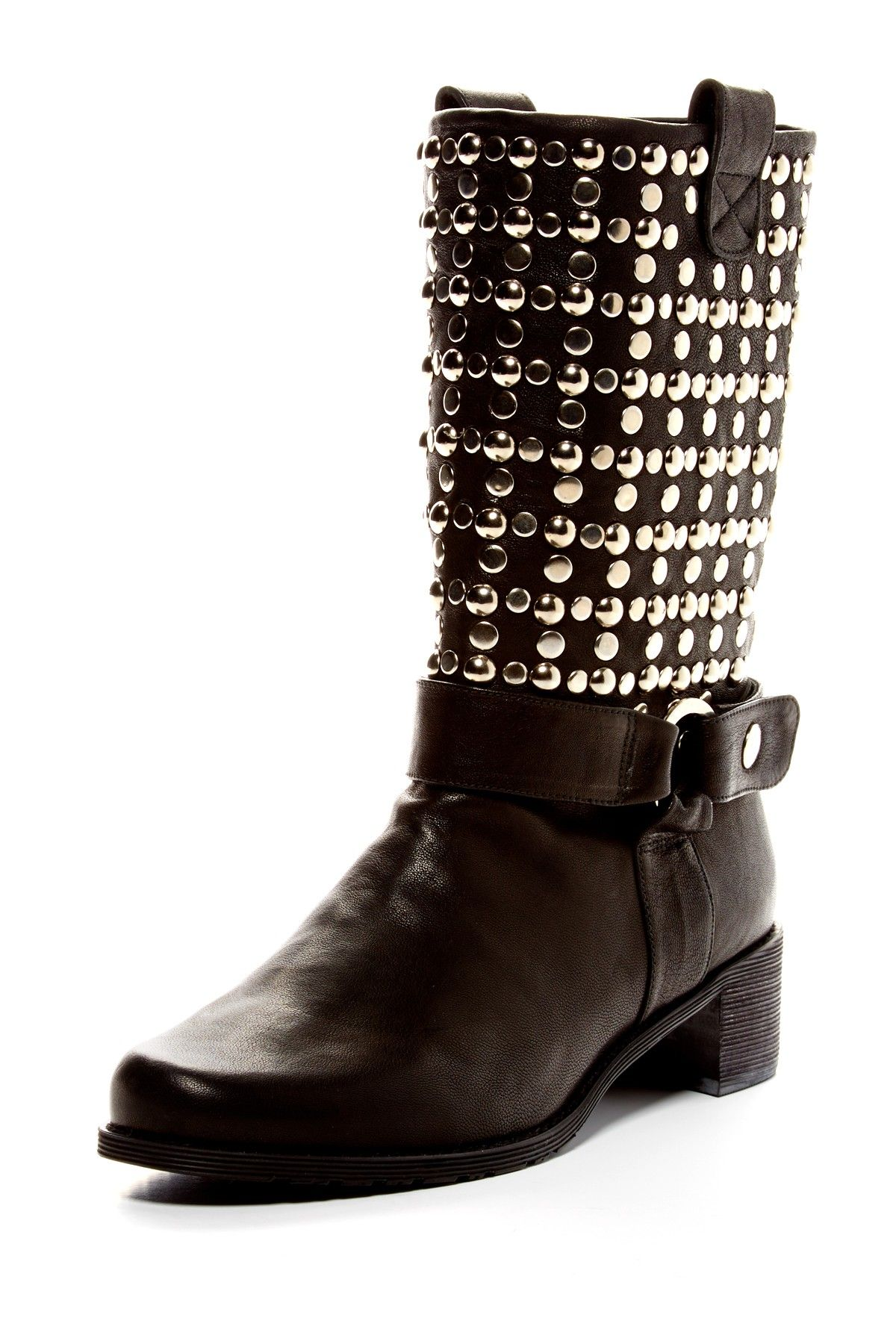 Stuart Weitzman Stud-Embellished Moto Boots discount websites Be2Uc