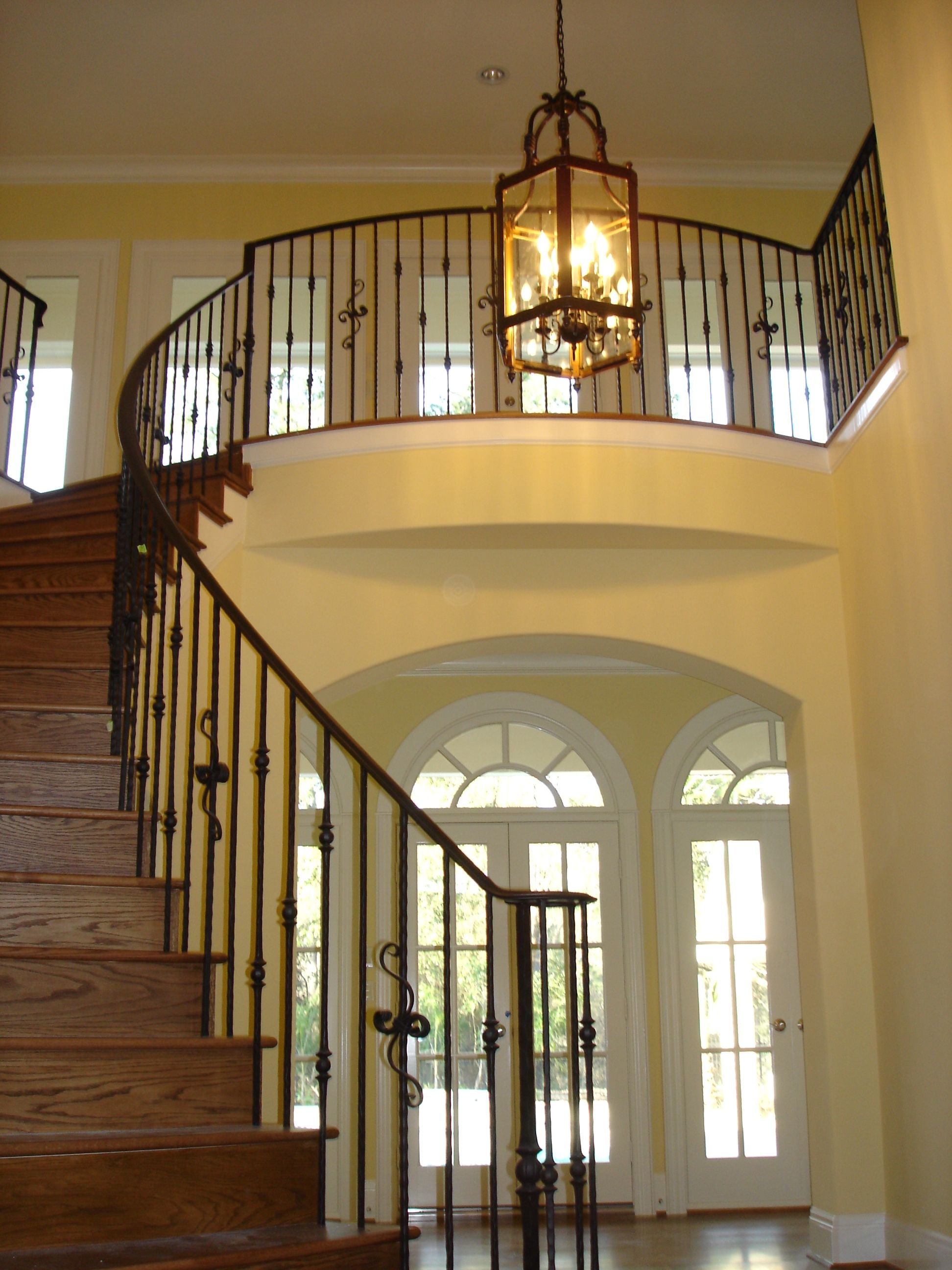 Exceptional This Custom Staircase Design Was Created Using Our Fabricated Wrought Iron  Services. These Unique Components