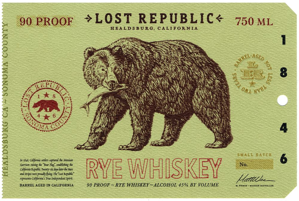 Lost Republic Bourbon - label