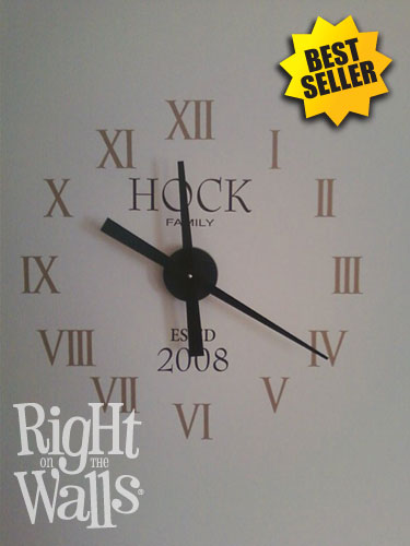 best selling family names wall clock | for the home | pinterest