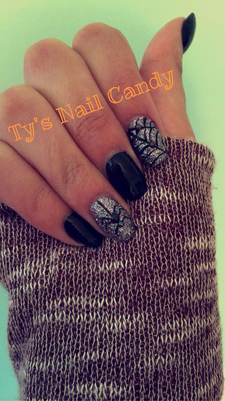 By: Ty's Nail Candy... Halloween Nails- with Spiderweb and ...