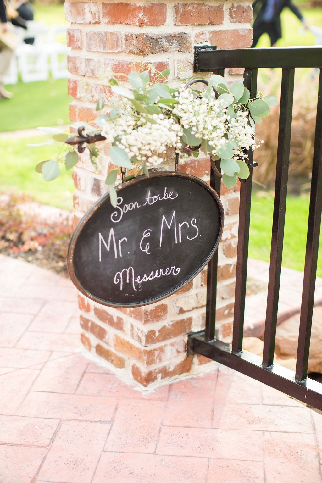 Wedding chalkboard sign outdoor wedding decor modern rustic