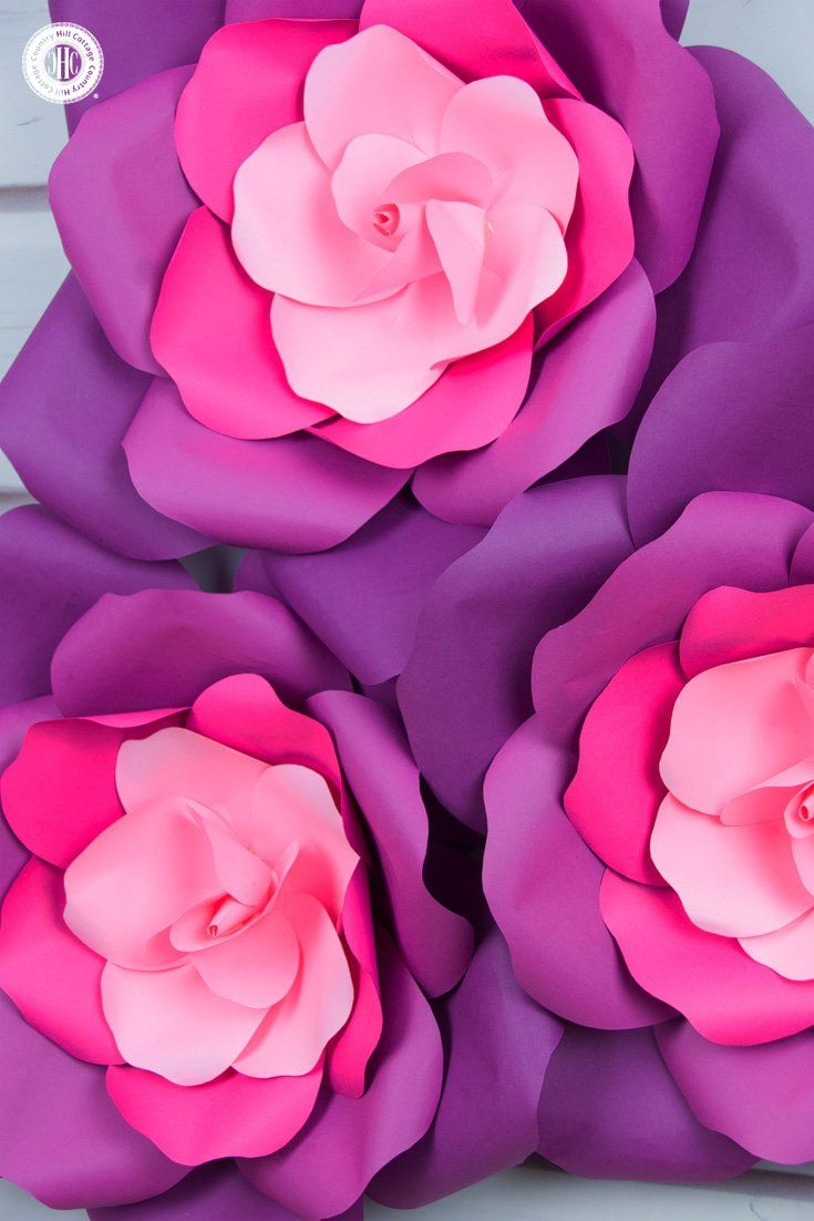 learn to craft giant paper roses in 5 easy steps and get a free printable template