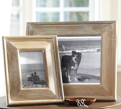 whitewashed frames - potterybarn   decorating inspiration ...
