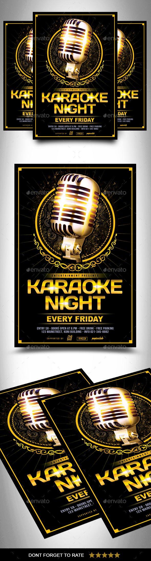 Karaoke Flyer Flyer Templates Pinterest Karaoke Flyer